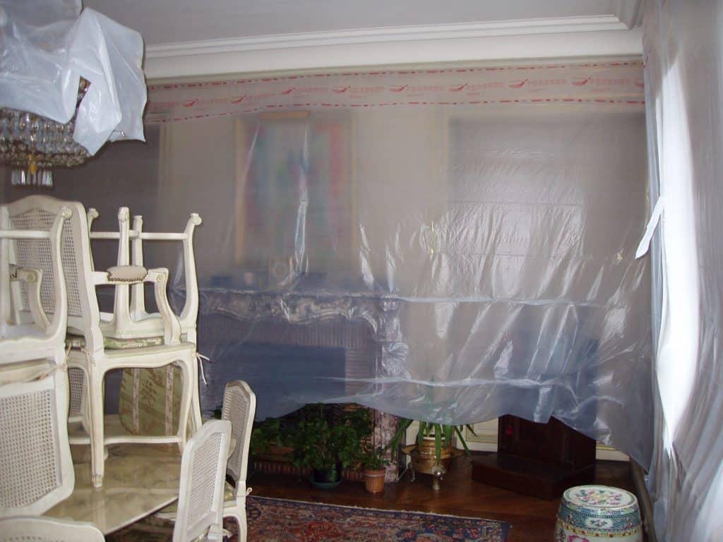 Devis retouche peinture plafond mur après dégât des eaux plafond
